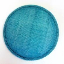 Turquoise Sinamay Hat Base in 2 Sizes